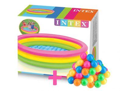 Piscina-Inflable-Intex-3 Aros-De-Colores-147x33cm+50-Pelotas